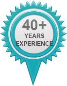 40 years experience banner
