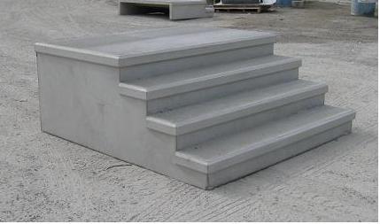 Mono concrete step llc steps with platforms for Precast concrete basement walls cost